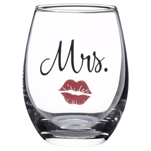 Mr & Mrs Wine Glass - image 1 of 1