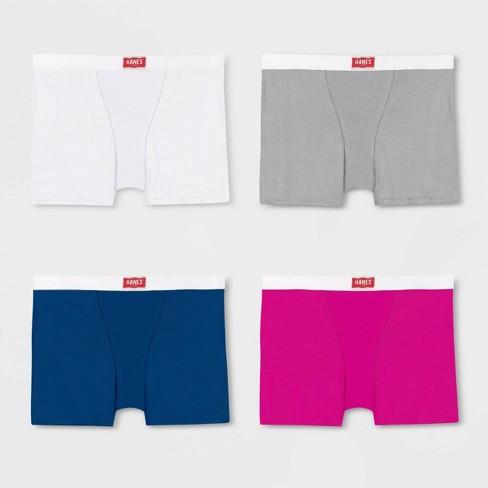 Hanes Premium Women's 4pk Underwear with Comfortsoft Waistband Boyfriend Boxer Briefs - image 1 of 4