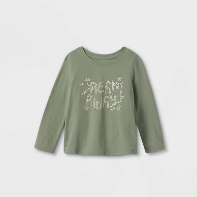 Toddler Girls' 'Dream Away' Long Sleeve Graphic T-Shirt - Cat & Jack™ Army Green