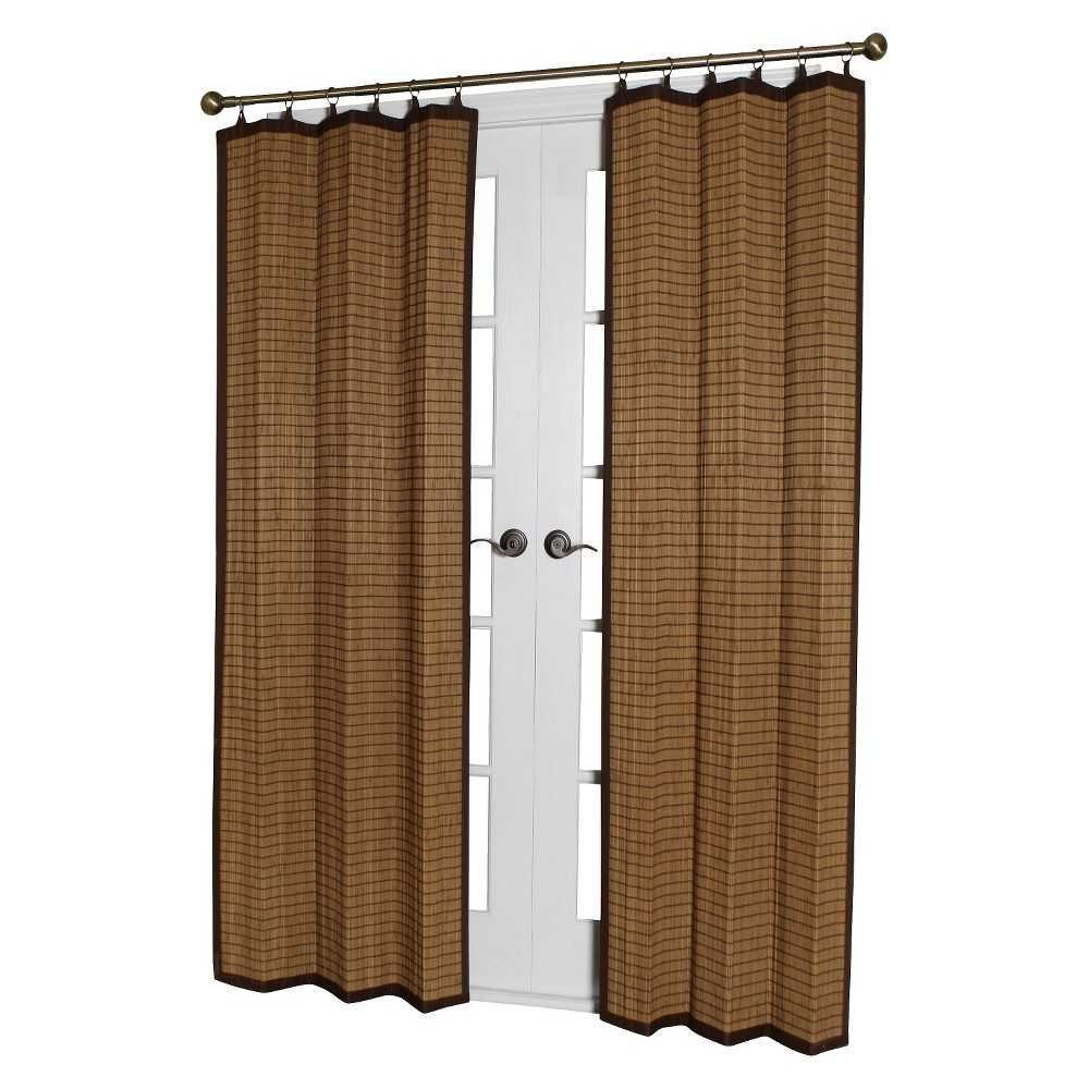 84 34 X40 34 Curtain Panel Bamboo Ring Top Light Brown Versailles Home Fashions