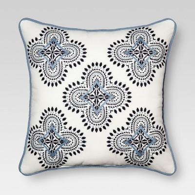 Blue Medallion Square Throw Pillow (18 x18 )- Threshold™