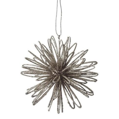 "Ganz 4"" Glittered Swirl Ball Christmas Ornament - Silver - image 1 of 1"