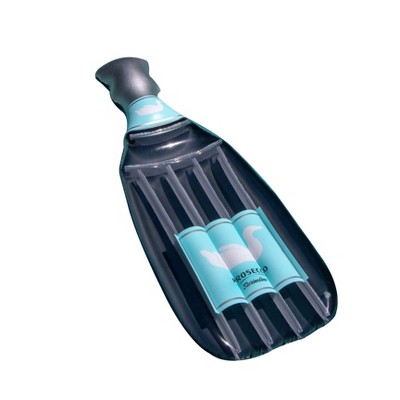 Swimline 90650 The Prosecco Float Inflatable Vinyl Bottle Shaped Pool Lake Raft