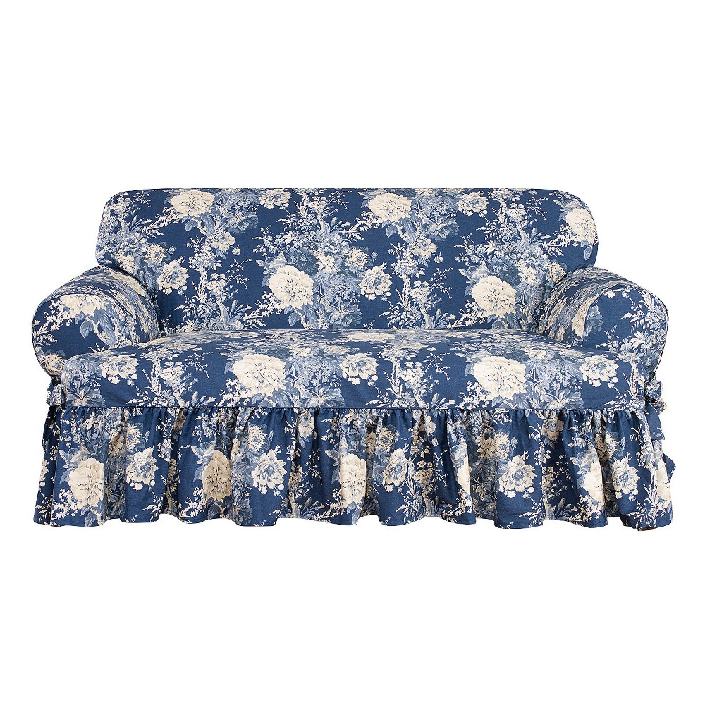 Fantastic Ballad Bouquet T Loveseat Slipcover Indigo Blue Sure Fit Ncnpc Chair Design For Home Ncnpcorg