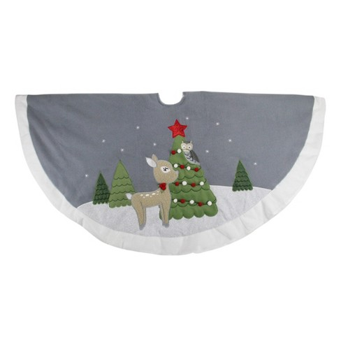 Northlight 48 Gray And White Deer With Owl Christmas Tree Skirt Target See over 777,838 skirt images on danbooru. northlight 48 gray and white deer with owl christmas tree skirt
