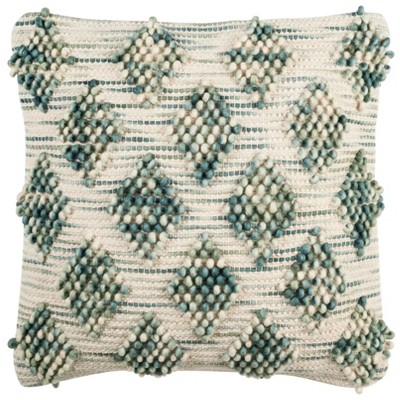 "20""x20"" Oversize Spacedye Square Throw Pillow Emerald/Ivory - Safavieh"