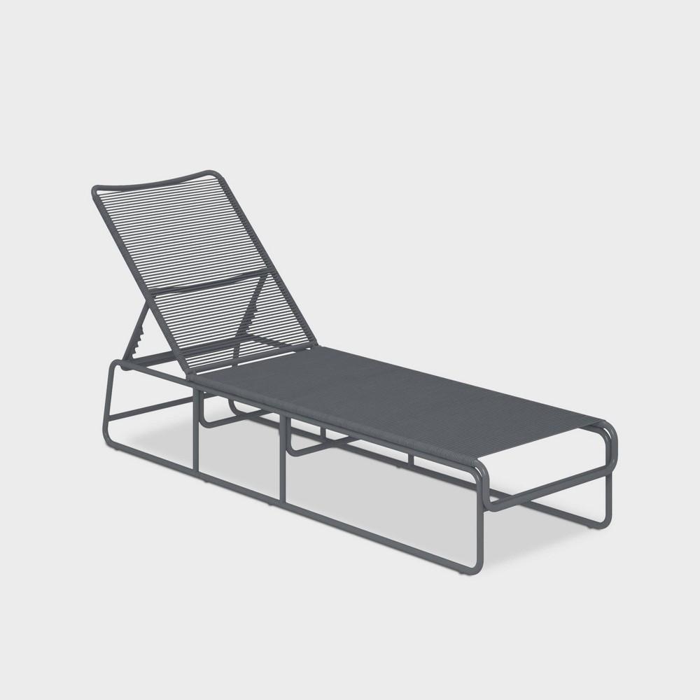 Nyla Adjustable Height Patio Chaise Lounge - Charcoal Gray - Cosmo Living