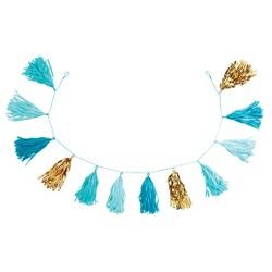 """82"""" Tassel Garland Turquoise/Gold - Spritz™"""