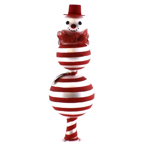 Laved Italian Ornaments Peppermint Snowman Finial Christmas Italian  -  Tree Toppers - image 1 of 2