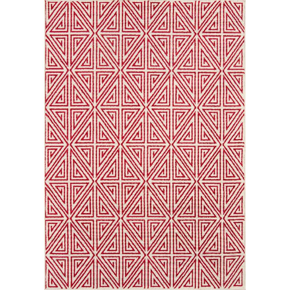 Indoor/Outdoor Diamond Rug - Red - (9' x 13')