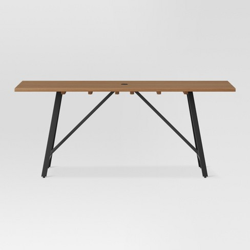 Cadima Rectangle Eucalyptus Wood Patio Dining Table - Natural - Project 62™ - image 1 of 25