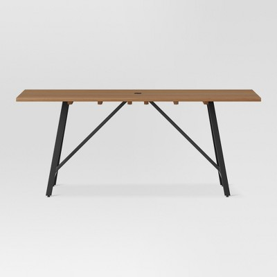 Cadima Rectangle Eucalyptus Wood Patio Dining Table   Natural   Project 62™