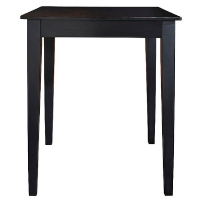 Tapered Leg Pub Bar Height Table Wood/Black - Crosley