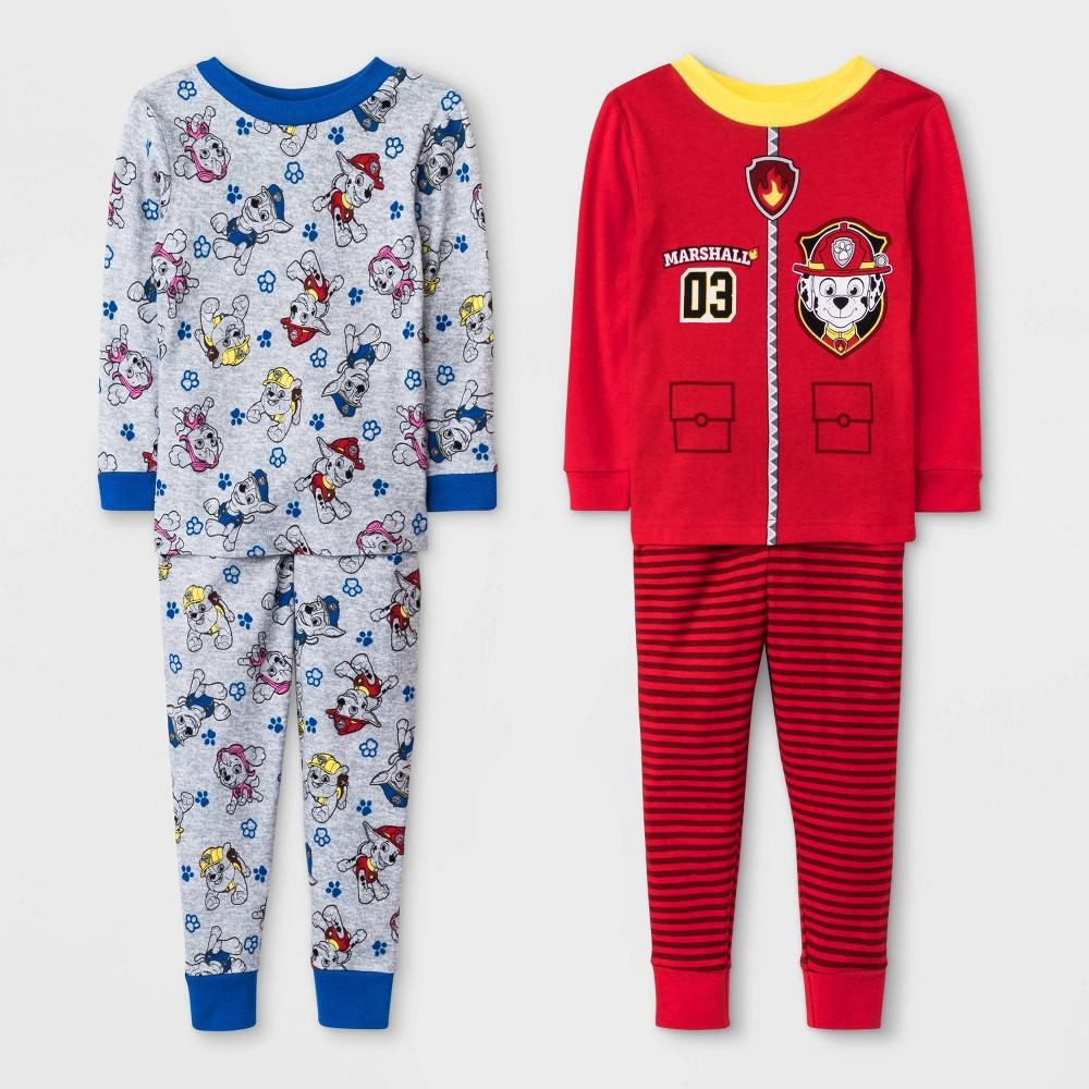 Image of Baby Boys' 4pc PAW Patrol Pajama Set - Red 12M, Boy's
