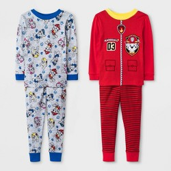 Toddler Boys' 4pc PAW Patrol Pajama Set - Red