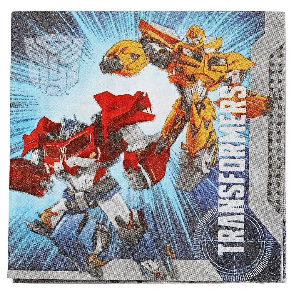 Image of 16ct Transformers Lunch Napkins