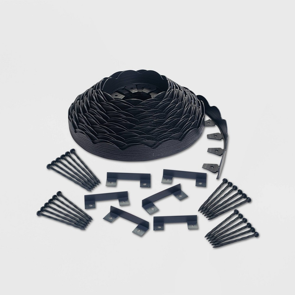 Image of 100' No-Dig Garden Edging Kit Black - EasyFlex