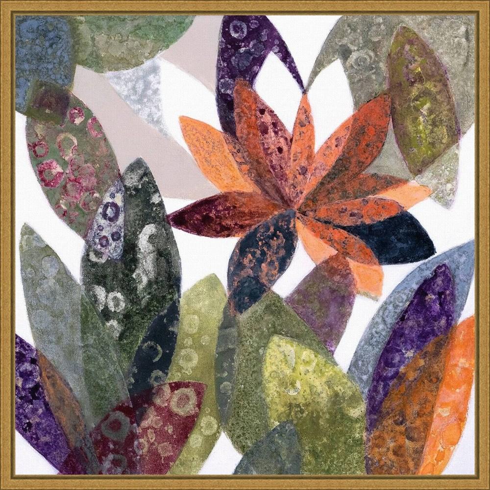 16 34 X 16 34 Melodia Otonal By Daniela Fedele Framed Canvas Wall Art Amanti Art