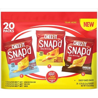 Cheez-It SNAP'D  Variety Pack - 15oz/20ct