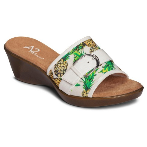 Women's A2 by Aerosoles Eyes On You Slide Wedge Sandals - White 6.5 - image 1 of 5