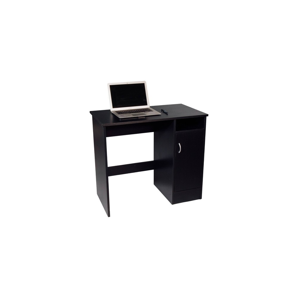 Madison Computer Desk With Cabinet Black Onespace