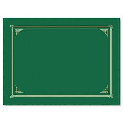 Geographics Certificate/Document Cover 12 1/2 x 9 3/4 Green 6/Pack 47399