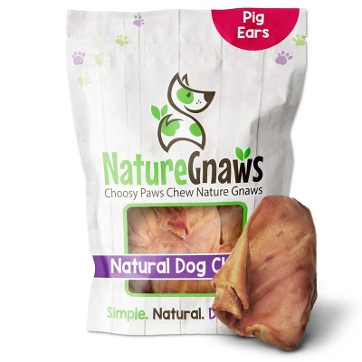 Nature Gnaws Pig Ears Dog Treats