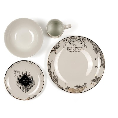 Seven20 Harry Potter Marauder's Map 4-Piece Porcelain Place Setting Set