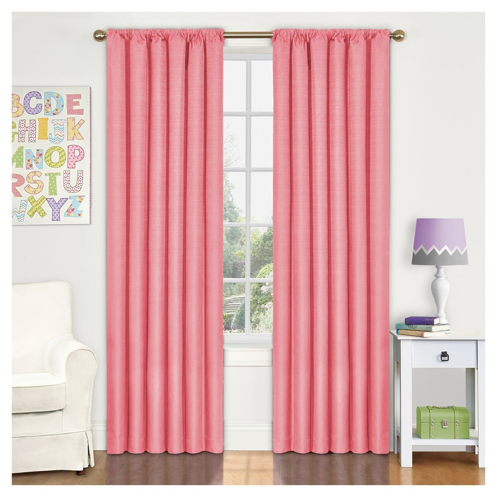 Image of Eclipse MyScene Kendall Thermaback Curtain Panel - Coral (Pink) - 42X63