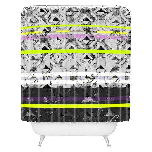 Triangle Lands Shower Curtain - Deny Designs® - image 1 of 1
