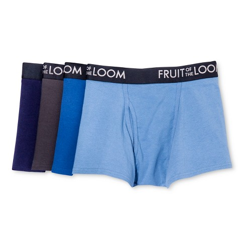 Fruit of the Loom® Men's 4pk Breathable Shorts Leg Boxer Briefs - Navy/Blue - image 1 of 4