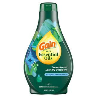 Gain with Essential Oils Eucalyptus & Mindful Mint Liquid Laundry Detergent - The Zen Scent - 42 fl oz