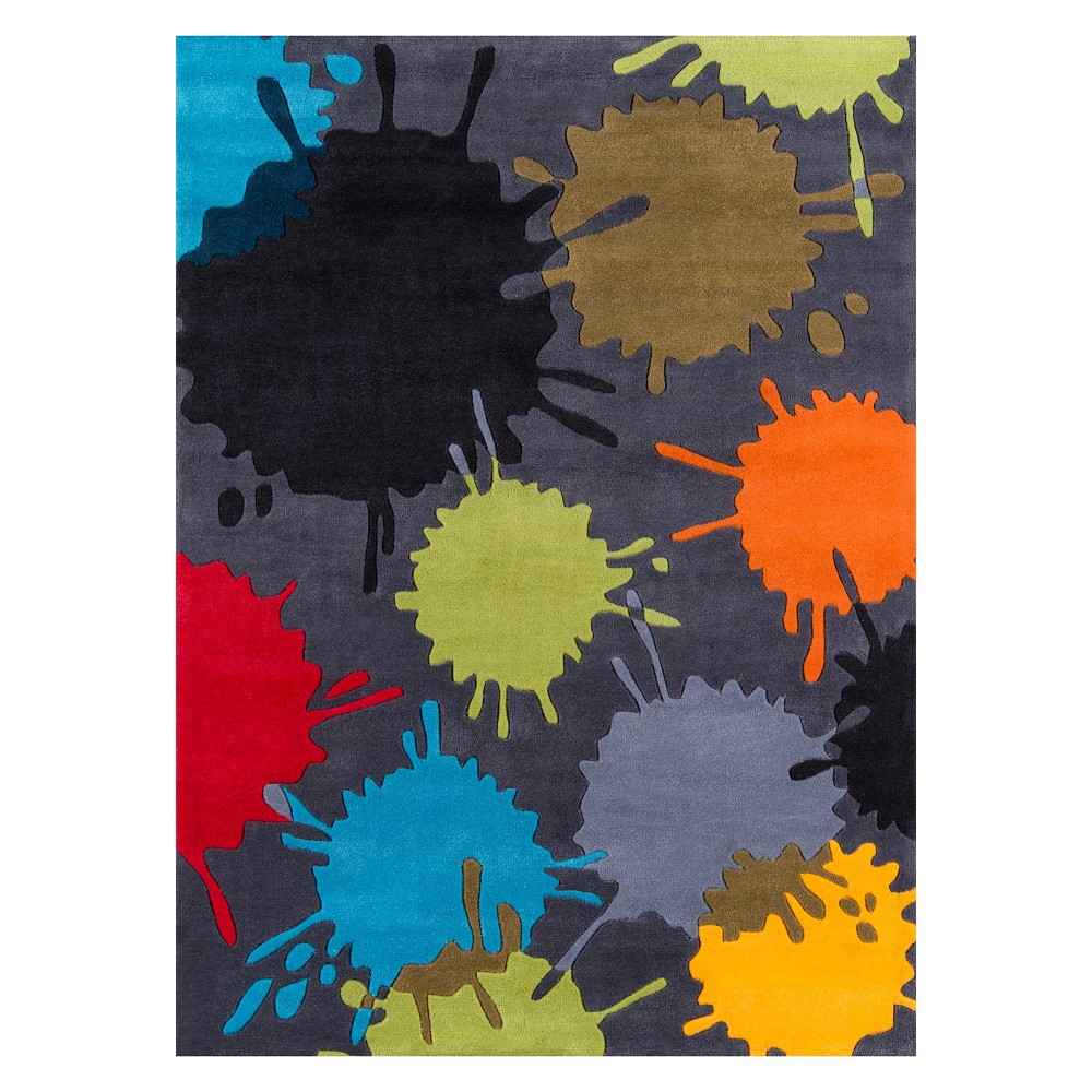 4'X6' Splatter Tufted Area Rug Gray - Momeni
