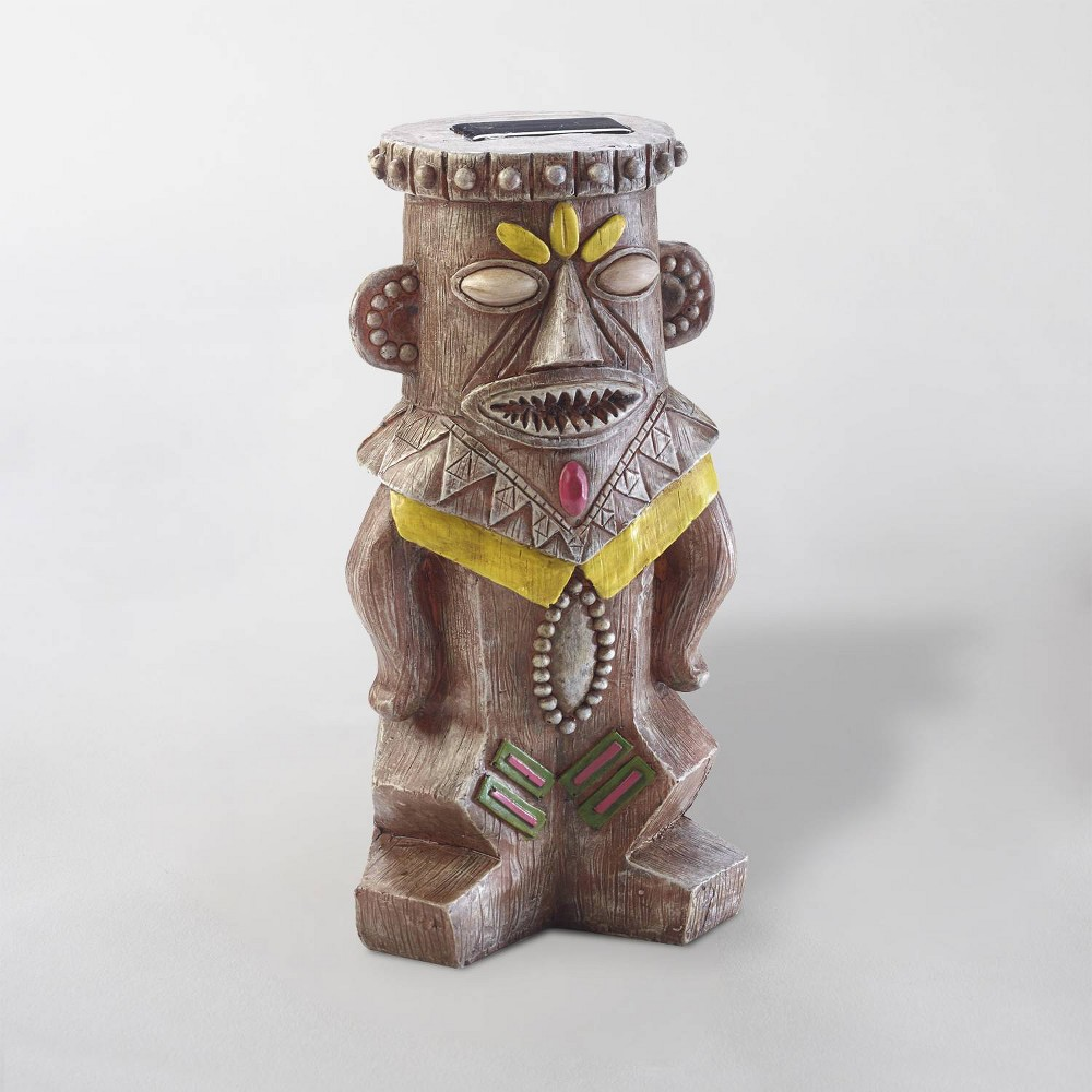 "Image of ""12"""" LED Good Luck Solar Juju Statue Brown - Smart Solar"""