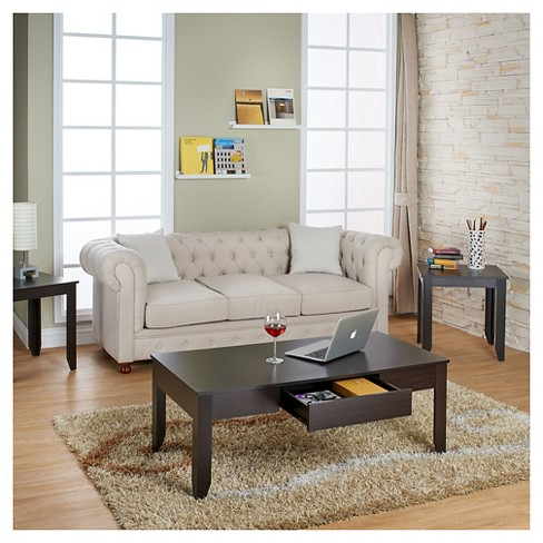 Tori Simple Modern Accent Table Set Cuccino 3 Piece Homes Inside Out Target