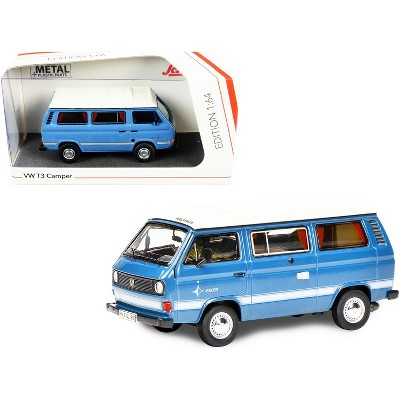 Volkswagen T3 Joker Camper Bus Light Blue with White Top 1/64 Diecast Model by Schuco