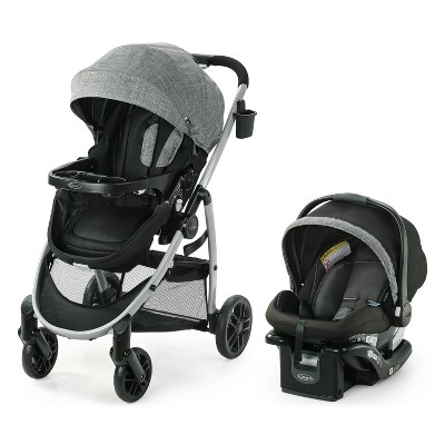 Graco Modes Pramette Travel System with SnugRide Infant Car Seat - Ellington