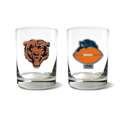 NFL Chicago Bears Rocks Glass Set - 2pc