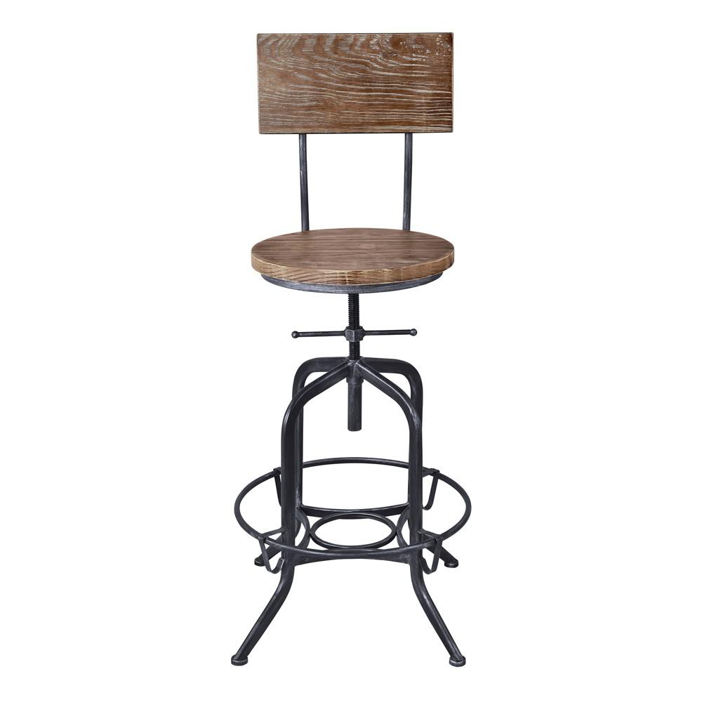 Wondrous Magnus Industrial Adjustable Barstool Gray Armen Living Dailytribune Chair Design For Home Dailytribuneorg