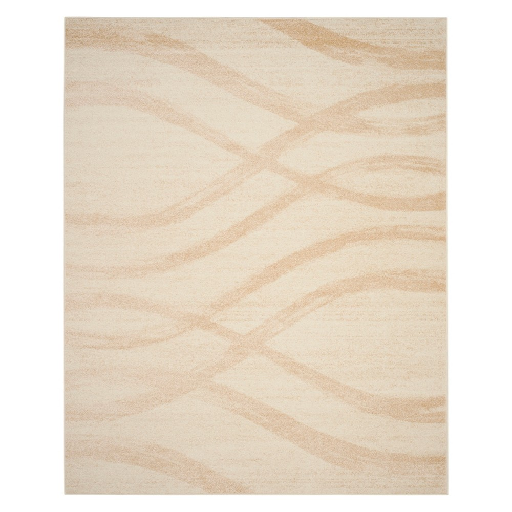 8'X10' Wave Area Rug Cream/Champagne - Safavieh, Off-White Yellow