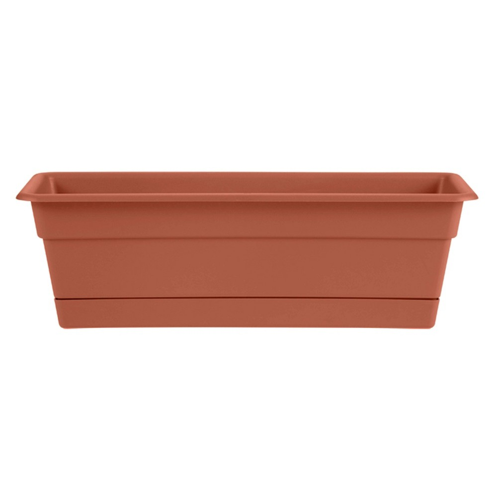 "Image of ""36"""" Rectangular Dura Cotta Window Box Terracotta - Bloem"""