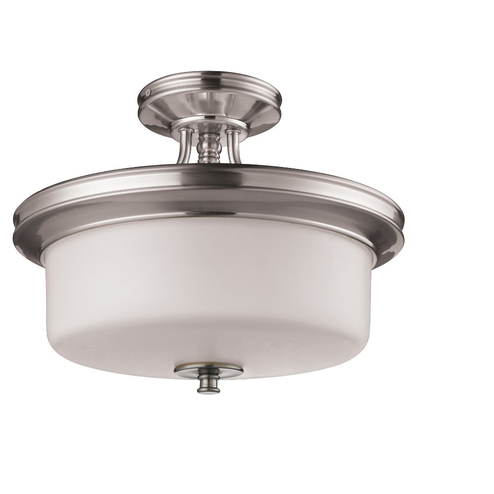 Semi Flush Mount Ceiling Lights with Matte Opal Glass (Set of 3) - Z-Lite