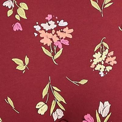 Berry Red Floral