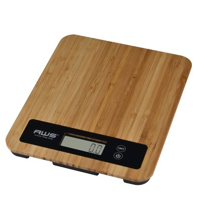 American Weigh Scales  Trident 11lbs Bamboo Digital Kitchen Scale