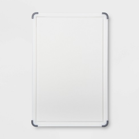 """12""""x18"""" Nonslip Poly Cutting and Carving Board White - Made By Design™ - image 1 of 2"""