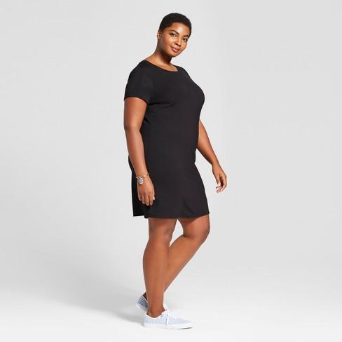 86892d6ea7c Women s Plus Size T-Shirt Dress - Ava   Viv™ Black   Target