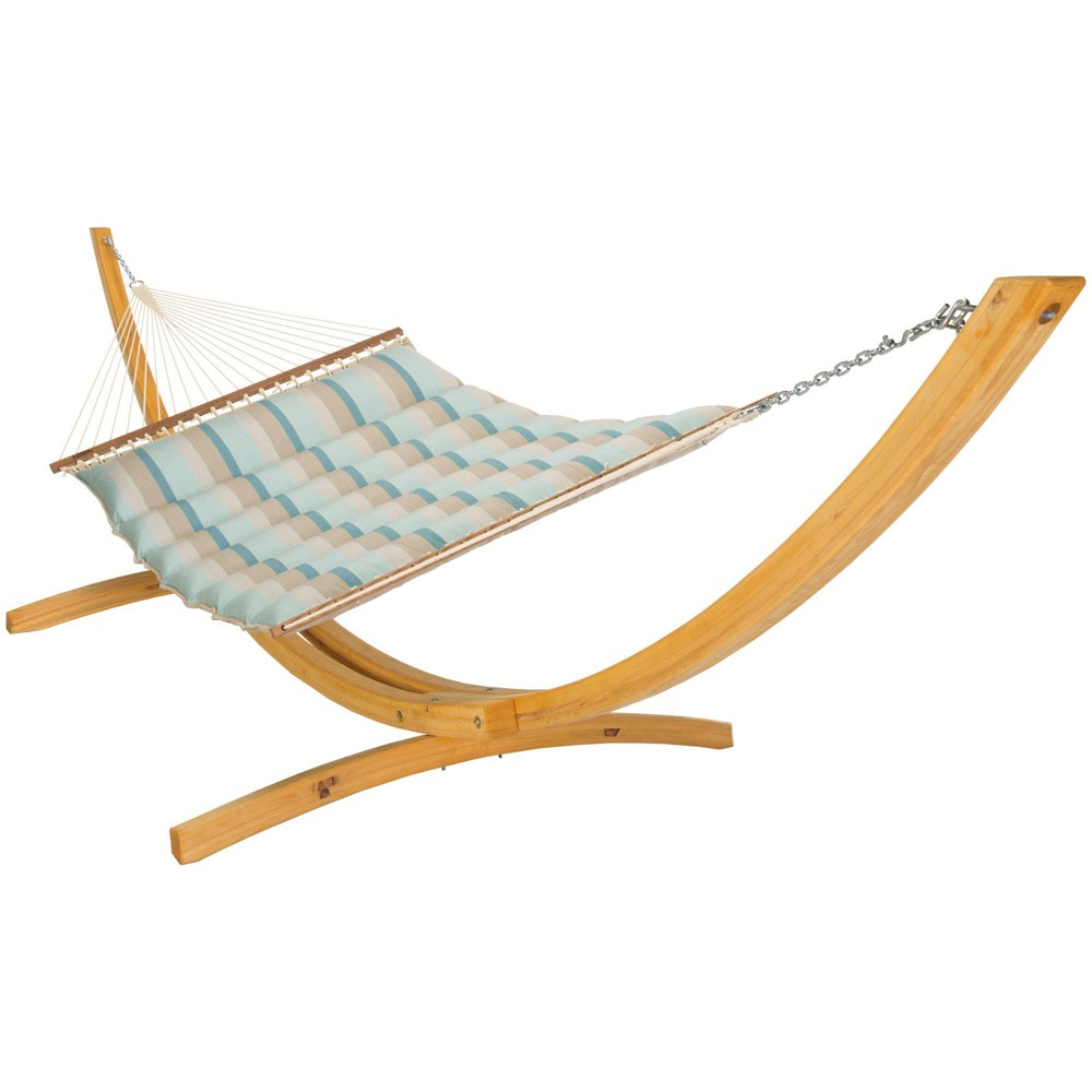 Image of Pillowtop Hammock - Blue Stripe - Hatteras Hammocks