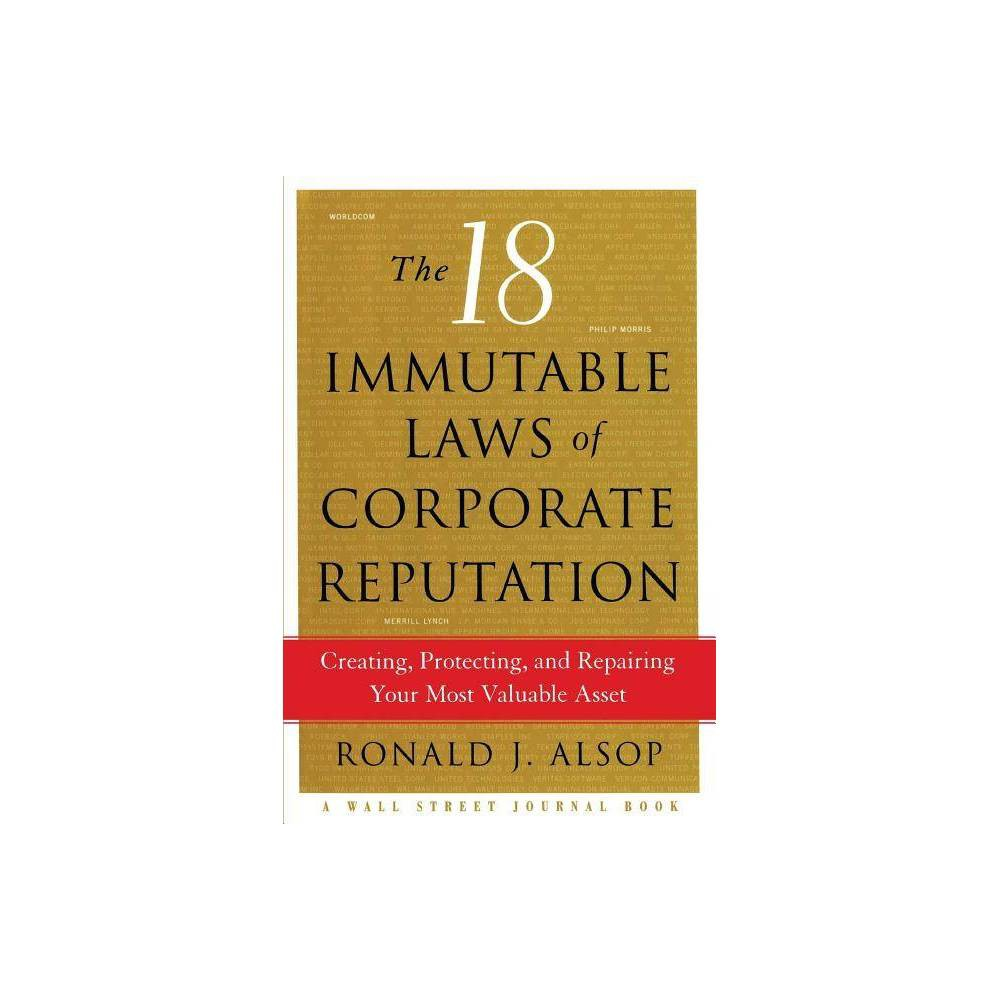 18 Immutable Laws Of Corporate By Alsop Paperback