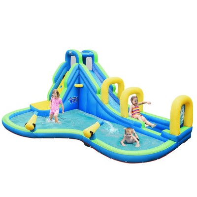 Costway Inflatable Water Slide Kids Bounce House Castle Splash Pool Without Blower
