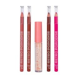 e.l.f. Retro Paradise Lip Makeup Kit - Line and Shine - 5pc